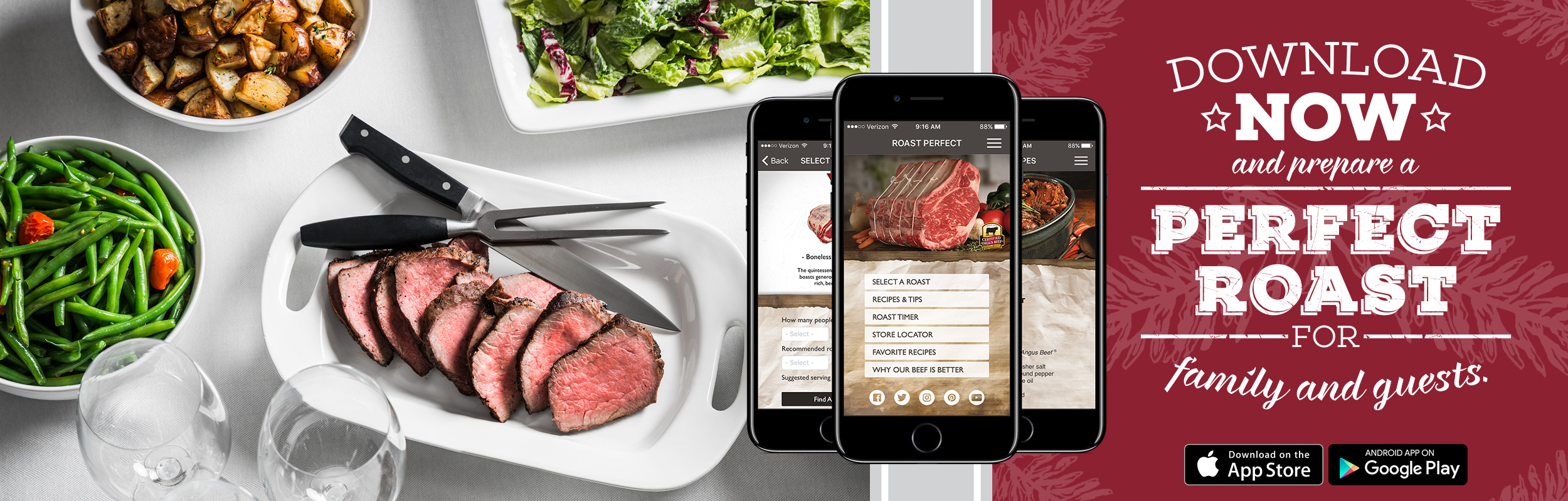Roast Perfect App to make the perfect roast for family and guests