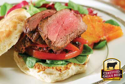 VIP Filet Sandwich recipe provided by the Certified Angus Beef® brand.