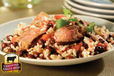 Southwestern Steak, Black Beans & Rice recipe provided by the Certified Angus Beef® brand.