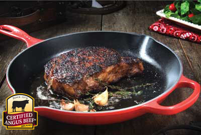 Classic Pan-Seared Ribeye Steak recipe provided by the Certified Angus Beef® brand.