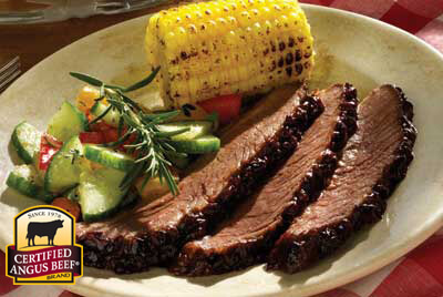 Brisket with Cherry Barbecue Sauce recipe provided by the Certified Angus Beef® brand.