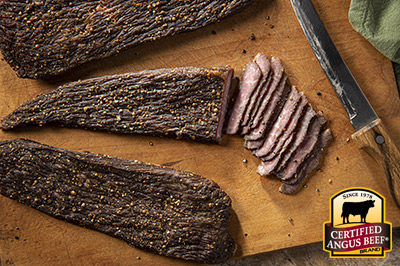 Biltong Style Beef Jerky  recipe provided by the Certified Angus Beef® brand.