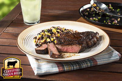 Blackened Chuck Eye Steak with Texas Caviar recipe provided by the Certified Angus Beef® brand.