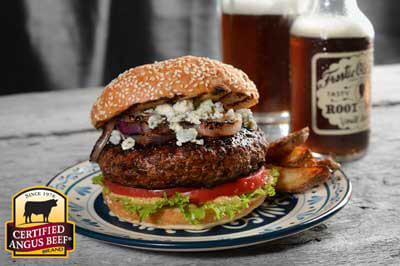 Black and Blue Burger recipe provided by the Certified Angus Beef® brand.