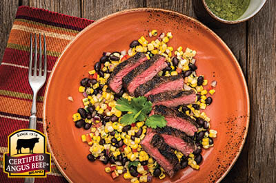 Southwest Salad with Avocado Dressing recipe provided by the Certified Angus Beef® brand.