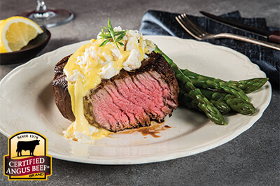 Grilled Filet Mignon with Crab Hollandaise Sauce recipe provided by the Certified Angus Beef® brand.