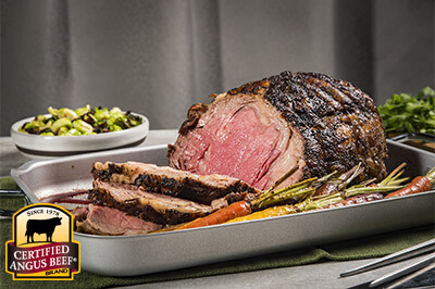Coffee Rubbed Rib Roast recipe provided by the Certified Angus Beef® brand.
