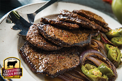 Pan-seared Round Steaks with Mexican Seasoning recipe provided by the Certified Angus Beef® brand.