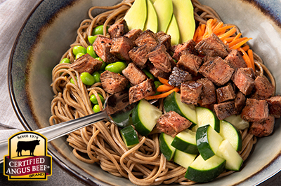 Sesame Beef Protein Bowl recipe provided by the Certified Angus Beef® brand.