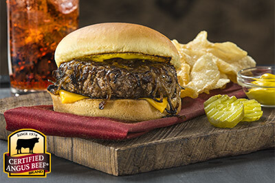 Oklahoma Griddle Onion Burgers recipe provided by the Certified Angus Beef® brand.