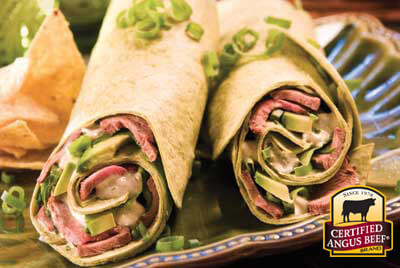 Lime, Avocado and Beef Wrap recipe provided by the Certified Angus Beef® brand.