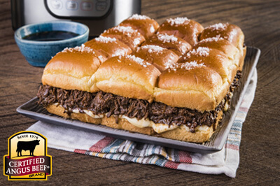 Pressure Cooker/Instant Pot French Dip Pull-Apart Sliders recipe provided by the Certified Angus Beef® brand.