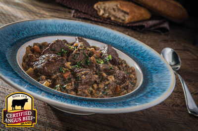 Beef Stew with Barley recipe provided by the Certified Angus Beef® brand.