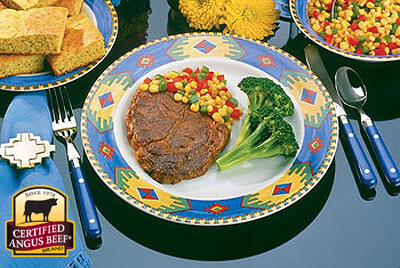 Lime Steak with Corn and Pepper Salsa recipe provided by the Certified Angus Beef® brand.