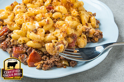 Cheeseburger Mac and Cheese  recipe provided by the Certified Angus Beef® brand.