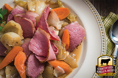 Irish Braised Corned Beef recipe provided by the Certified Angus Beef® brand.