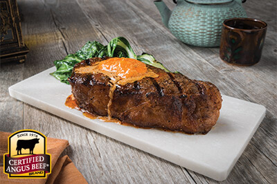 Grilled Steaks with Korean Gochujang Butter recipe provided by the Certified Angus Beef® brand.