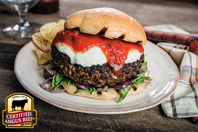 Italian Burger recipe provided by the Certified Angus Beef® brand.