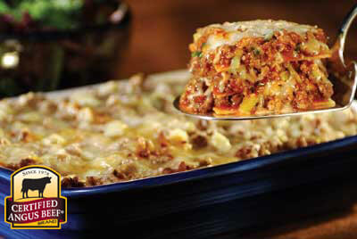 Tortilla Lasagna recipe provided by the Certified Angus Beef® brand.