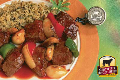 Glazed Beef Kabobs recipe provided by the Certified Angus Beef® brand.