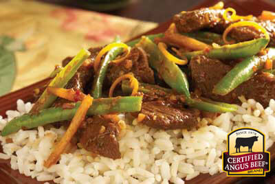 Ginger Thai Stir-fry recipe provided by the Certified Angus Beef® brand.
