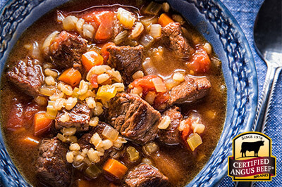 Beef and Barley Soup recipe provided by the Certified Angus Beef® brand.