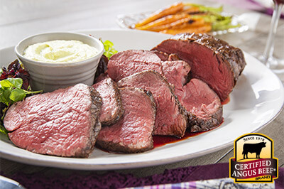 Wasabi Rubbed Tenderloin Roast recipe provided by the Certified Angus Beef® brand.