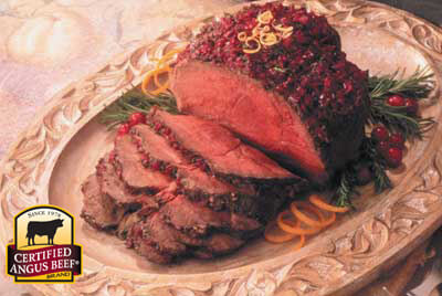 Cranberry Top Sirloin Roast recipe provided by the Certified Angus Beef® brand.