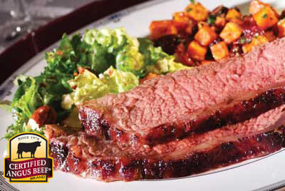 Sweet Cherry and Chipotle Roasted New York Strip recipe provided by the Certified Angus Beef® brand.