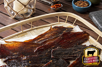 Jerk Beef Jerky recipe provided by the Certified Angus Beef® brand.