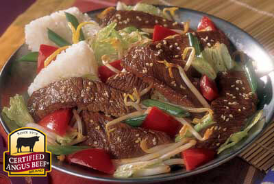 Japanese-style Sirloin recipe provided by the Certified Angus Beef® brand.
