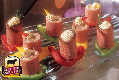 Pastrami Pinwheels recipe provided by the Certified Angus Beef® brand.