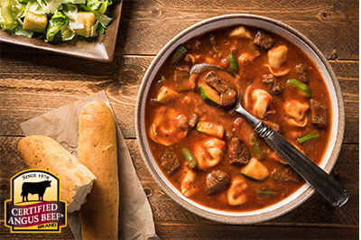 Beef Marinara and Tortellini Stew recipe provided by the Certified Angus Beef® brand.