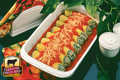 Manicotti Beef Florentine recipe provided by the Certified Angus Beef® brand.