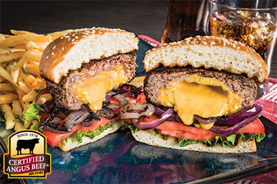 cheesy juicy lucy burger certified angus beef recipes angus