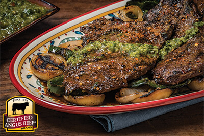 Grilled Skirt Steak with Chimichurri Sauce recipe provided by the Certified Angus Beef® brand.