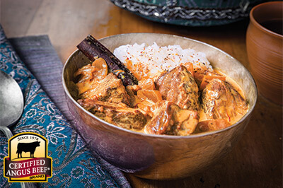 Exotic Beef Korma recipe provided by the Certified Angus Beef® brand.