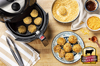 Air Fryer Beef Poppers recipe provided by the Certified Angus Beef® brand.