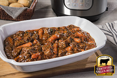 Pressure Cooker/Instant Pot Easy Beef Stew recipe provided by the Certified Angus Beef® brand.