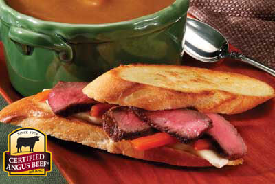 Grilled Italian Steak Sandwich recipe provided by the Certified Angus Beef® brand.