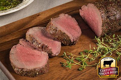 Pink Peppercorn and Smoked Salt Tenderloin Roast recipe provided by the Certified Angus Beef® brand.