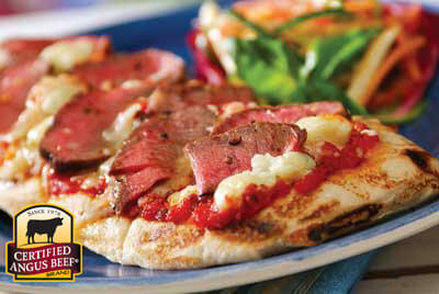 Grilled Steak Pizza  recipe provided by the Certified Angus Beef® brand.