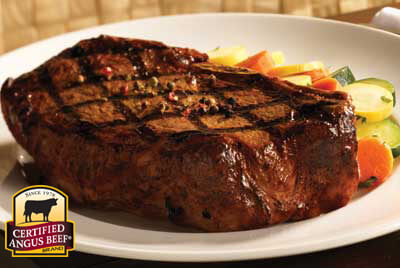 Bone-in Strip Steaks with Fennel Pepper Rub recipe provided by the Certified Angus Beef® brand.
