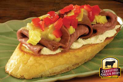 Open Faced Roast Beef Sandwich