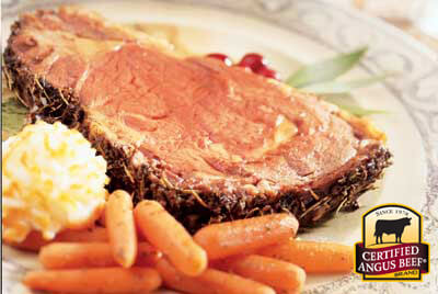 Rosemary Rib Roast recipe provided by the Certified Angus Beef® brand.