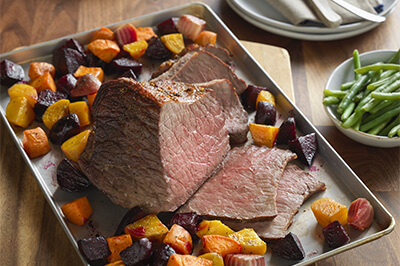 One Pan Beef Roast with Root Vegetables recipe provided by the Certified Angus Beef® brand.