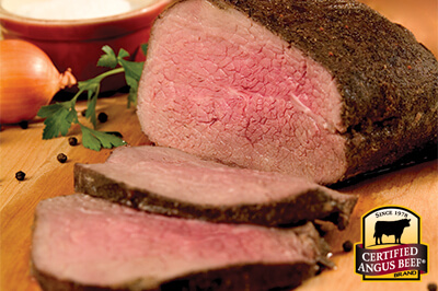 Deliciously Bold Eye of Round Roast recipe provided by the Certified Angus Beef® brand.