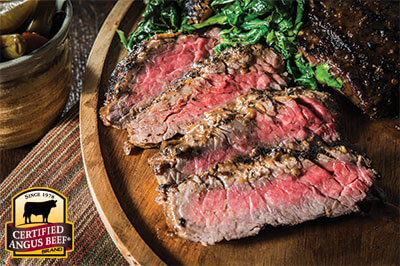Jerk Spiced Sirloin Flap Steak recipe provided by the Certified Angus Beef® brand.