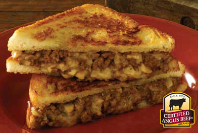 Toasty Grilled Beef and Cheese recipe provided by the Certified Angus Beef® brand.