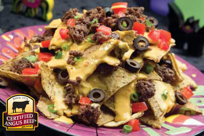 Beefy Nachos recipe provided by the Certified Angus Beef® brand.